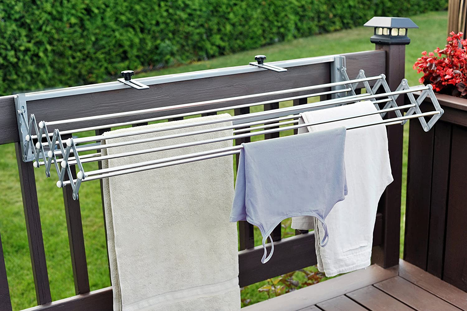 indoor urban essentials cloth drying rack expanding antique bronze top clothes household dryer expandable clotheslines