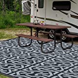 SAND MINE Reversible Mats, Plastic Straw Rug, Fade Resistant Area Rug, Large Floor Mat and Rug for Outdoors, RV, Patio, Backy