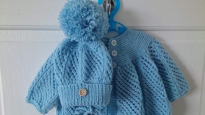 972dbd14ea28 Cosmo pram set - hand knitted