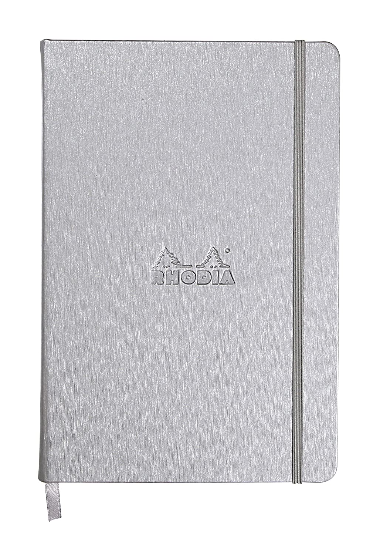 Rhodia Webnotebook - A5 (5.5 x 8.25 inches), Dot Grid, Black 118769C