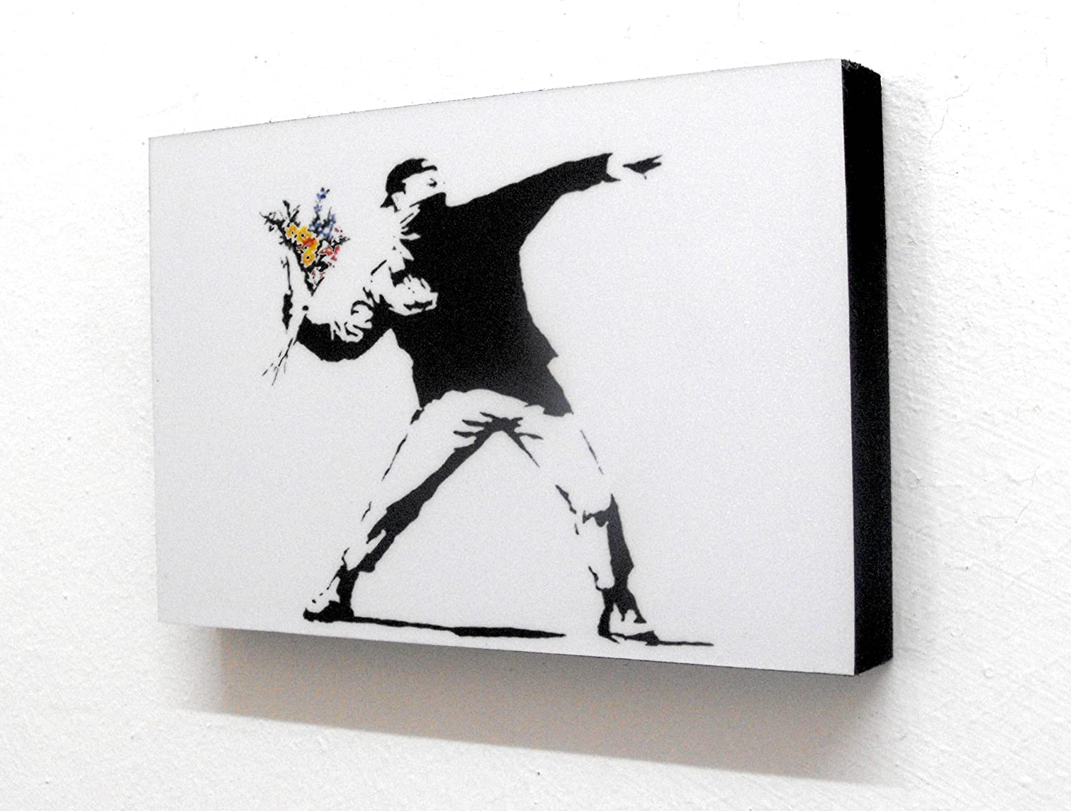 Banksy Flower Thrower Graffiti 6