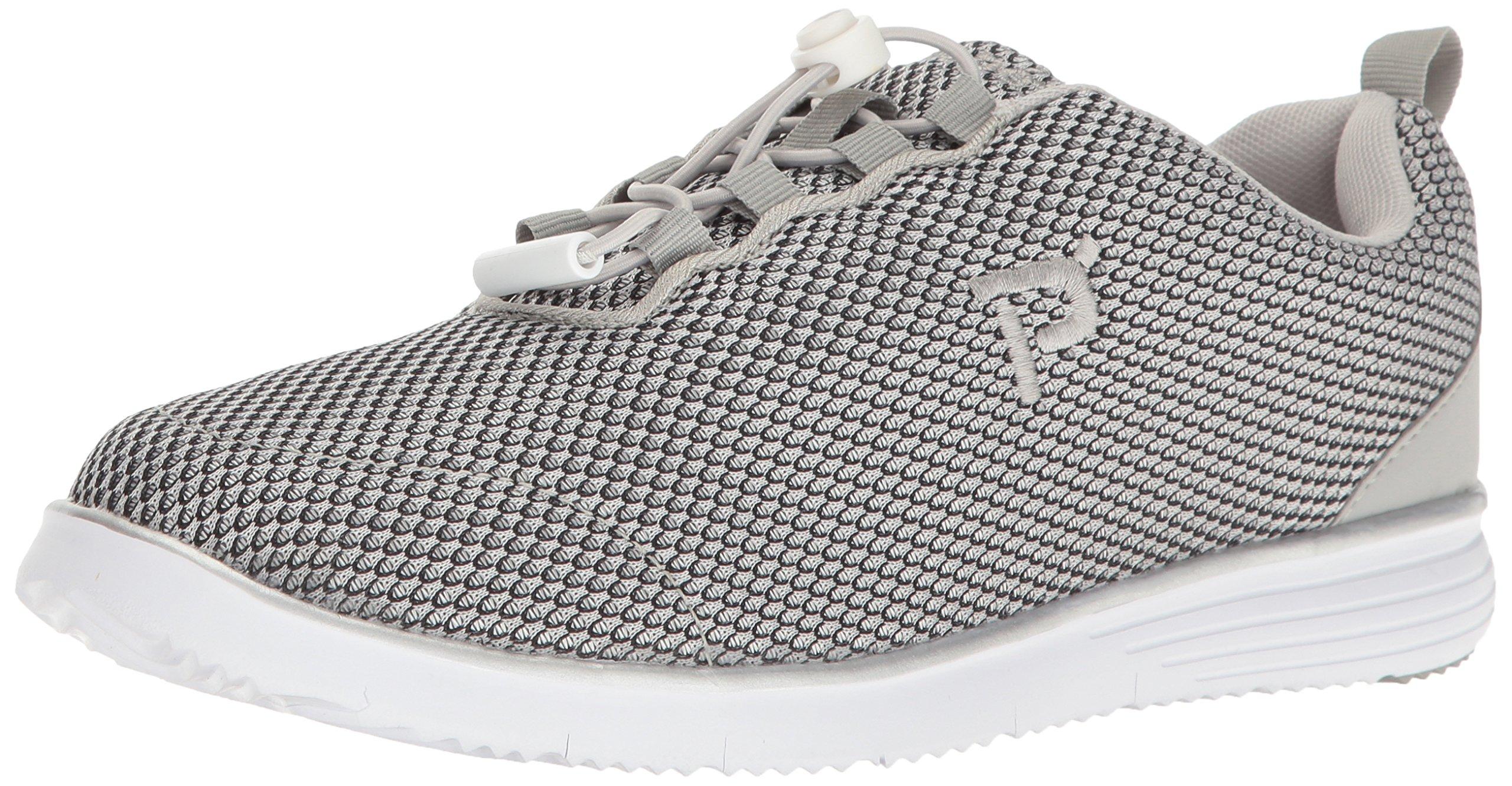Propet Women's TravelFit Prestige Walking Shoe, Silver/Black, 8 4E US
