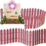 """Fairy Garden Miniature Door & Fence Set of 3 pcs, 2,7""""-4,5"""" H Figurines & Accessories, Kit For Outdoor or House Decor, By Mood Lab"""