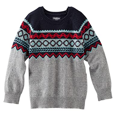 Amazon.com: OshKosh Baby Boys Fair Isle Sweater (5T): Clothing