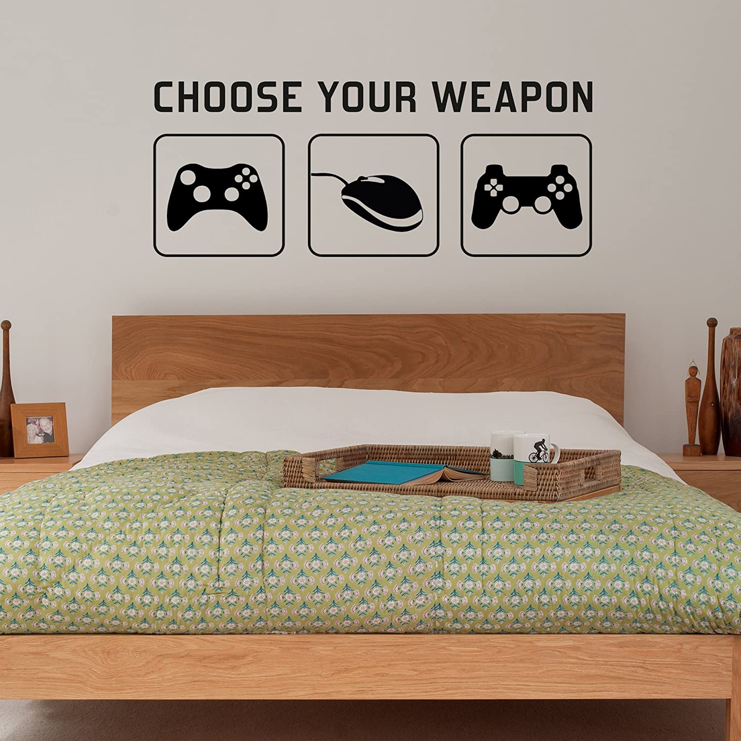 Radecal CHOOSE YOUR WEAPON Video Game Gaming Vinyl Decal Wall