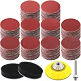 HongWay 300pcs 2 Inches Sanding Discs Pad Kit for Drill Grinder Rotary Tools with Backer Plate Shank and Soft Foam…