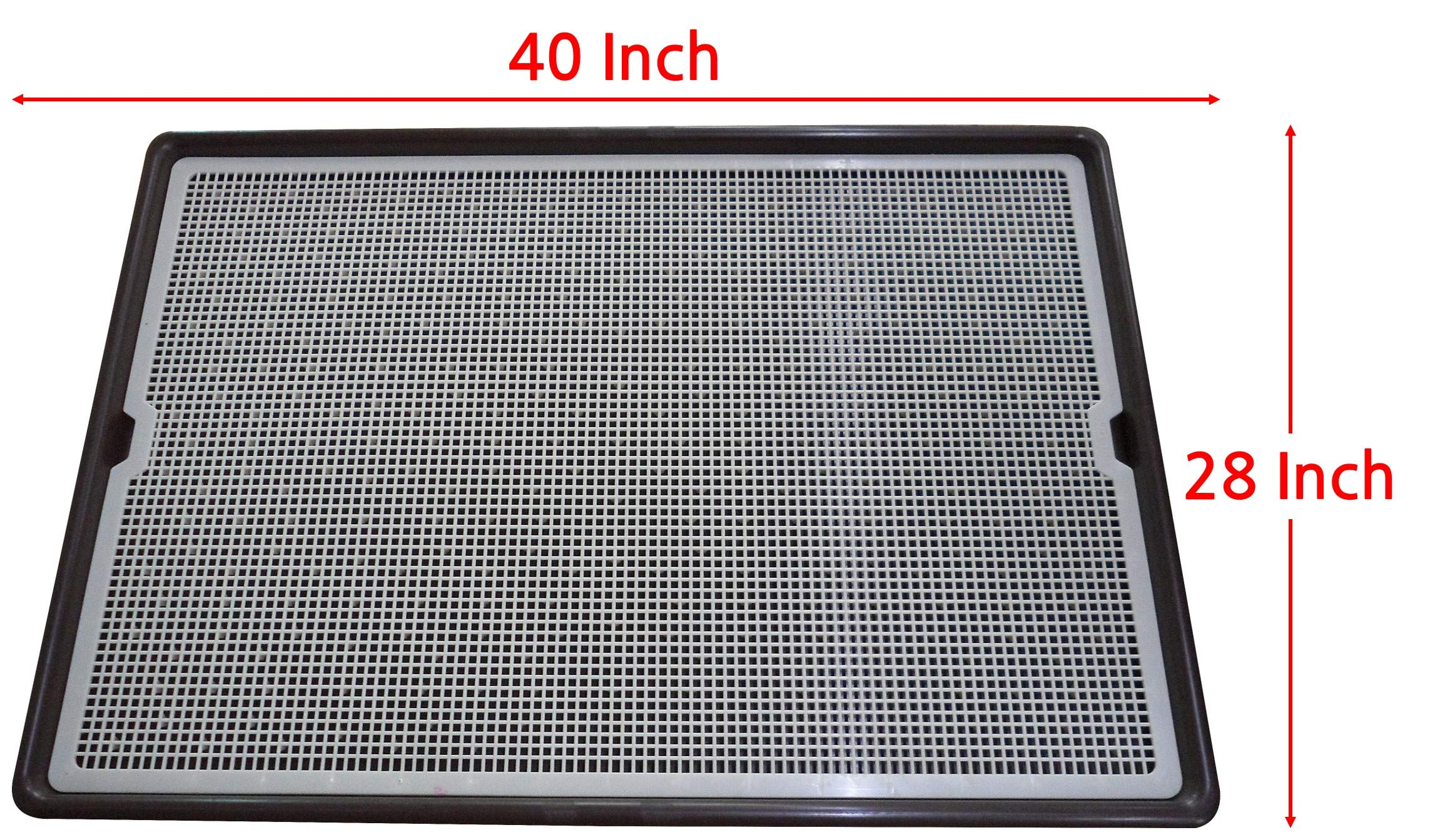 Pet Time Grand Dog Toilet Pet Dog Cat mesh Potty Large Big Huge Protect Floor Litter Training pad Holder 40'' X 28'' AMT-1100 by Pet Time