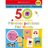 Flash Cards Set - 50 Spanish-English First Words (Scholastic Early Learners)