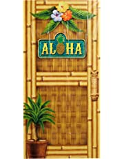 Beistle 57314 Aloha Door Cover, 30-Inch by 5-Feet