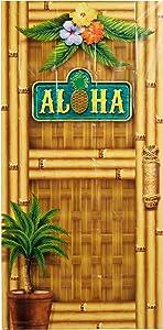 """Beistle Aloha Door Cover, 30"""" x 5'"""