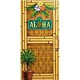 """Beistle 57314 Aloha Door Cover, 30"""" x 5'"""