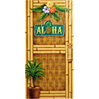Beistle 57314 Aloha Door Cover, 30-Inch by 5-Feet