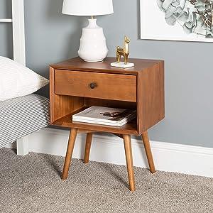 WE Furniture nightstand, Caramel