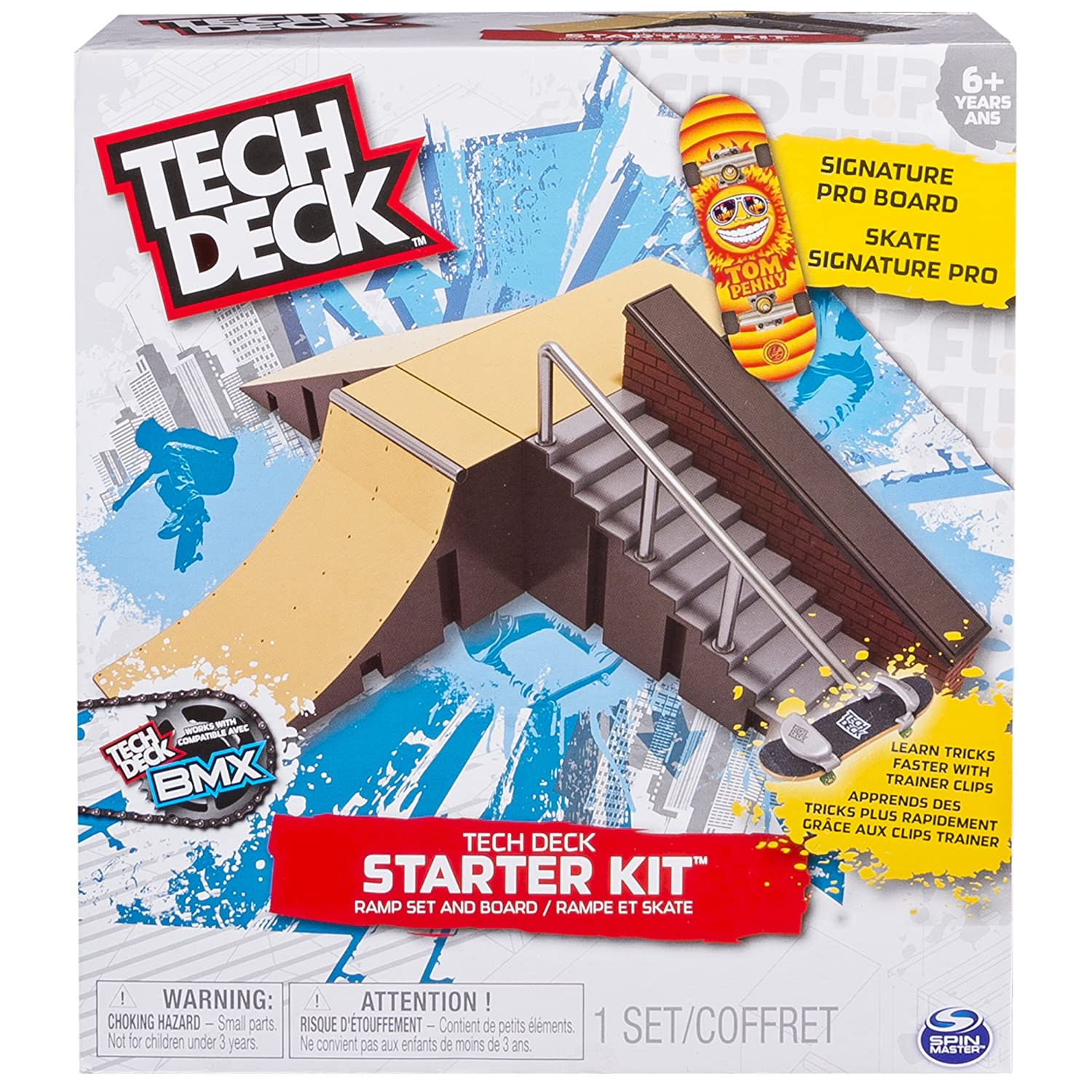 amazon com tech deck starter kit ramp set and board toys u0026 games