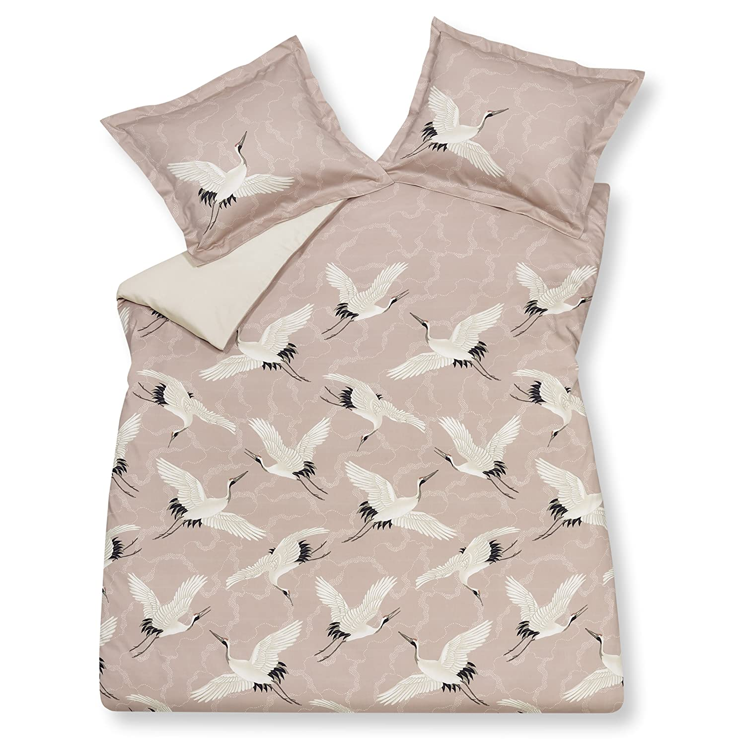 Vandyck Game Duvet Cover Flying Cranes Sepia Pink 144 Bed of 150 x190 200 Amazon Kitchen & Home