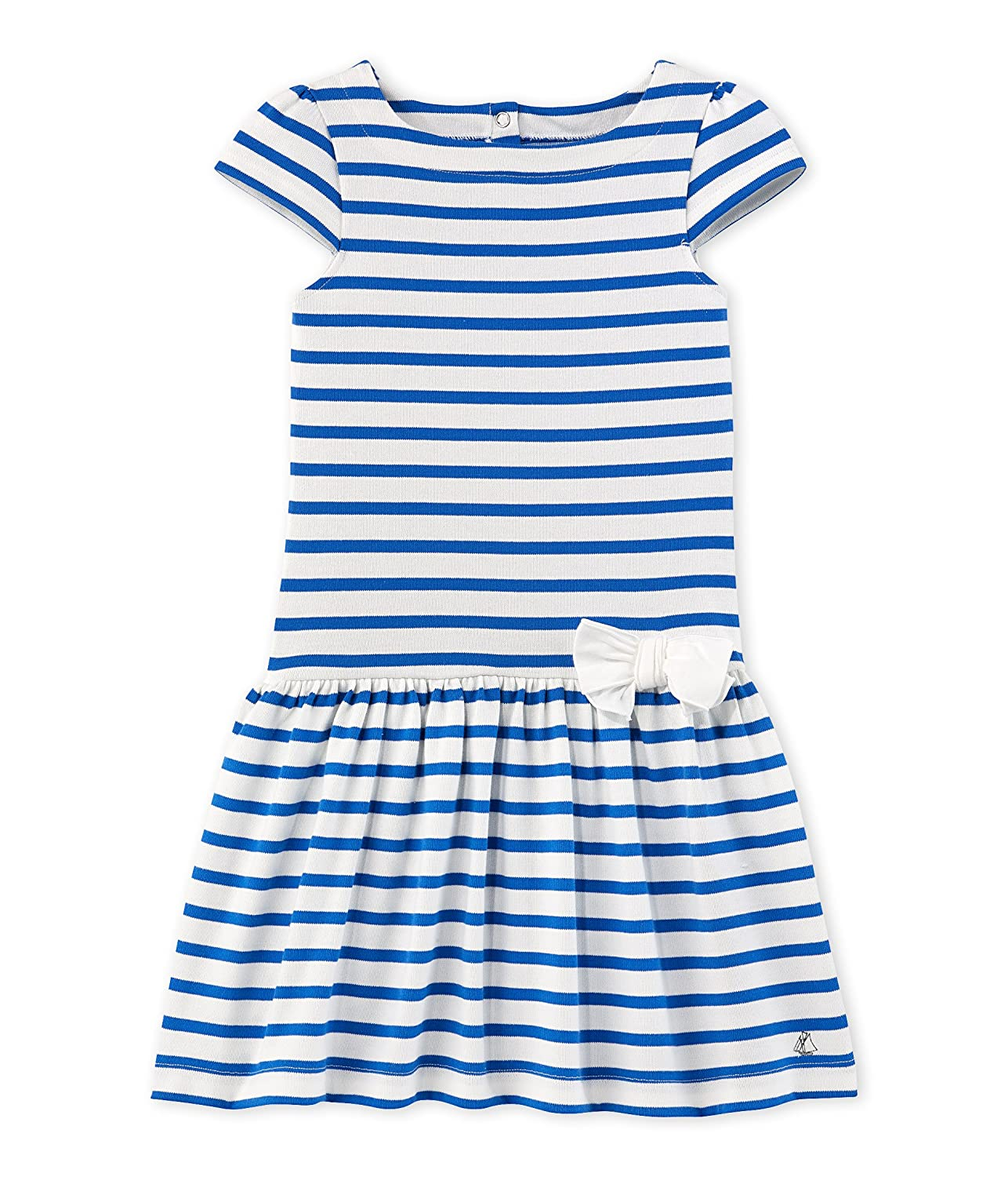 Petit Bateau Girl's Fathilda Dress Multicoloured (Lait/Delft) 5 Years 2269538