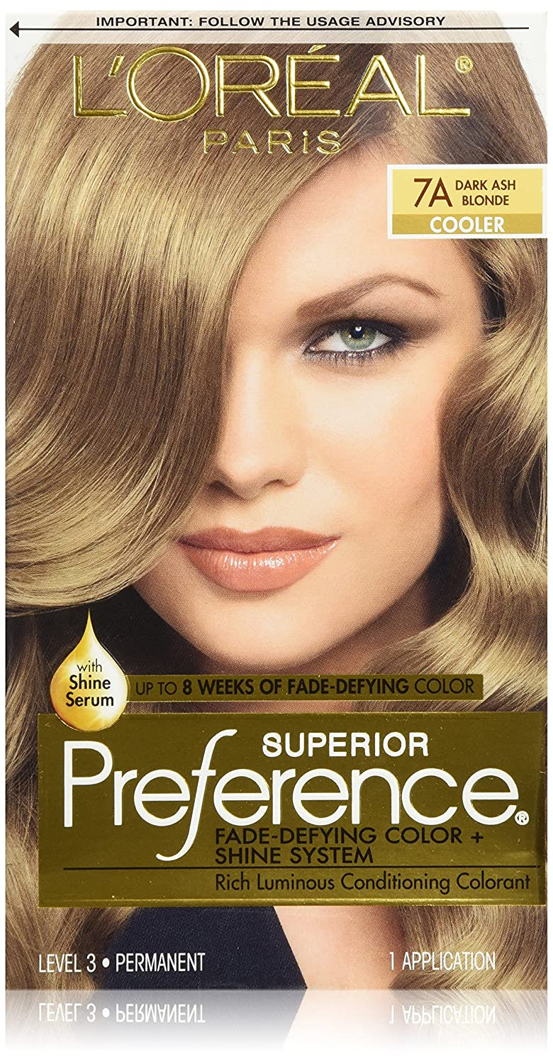 Loral Paris Superior Preference Permanent Hair Color 7a Dark Ash