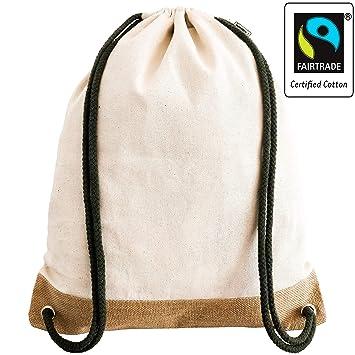 Premium Turnbeutel aus Bio Baumwolle Gymsack Rucksack schwere Qualität
