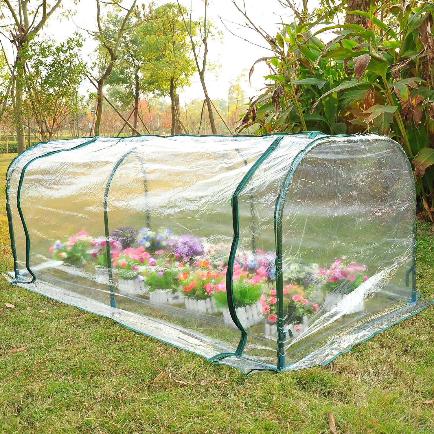 Greenhouse Mini Portable Garden Plant Tier Green Planter Flower 7'x3'x3' House Tunnel