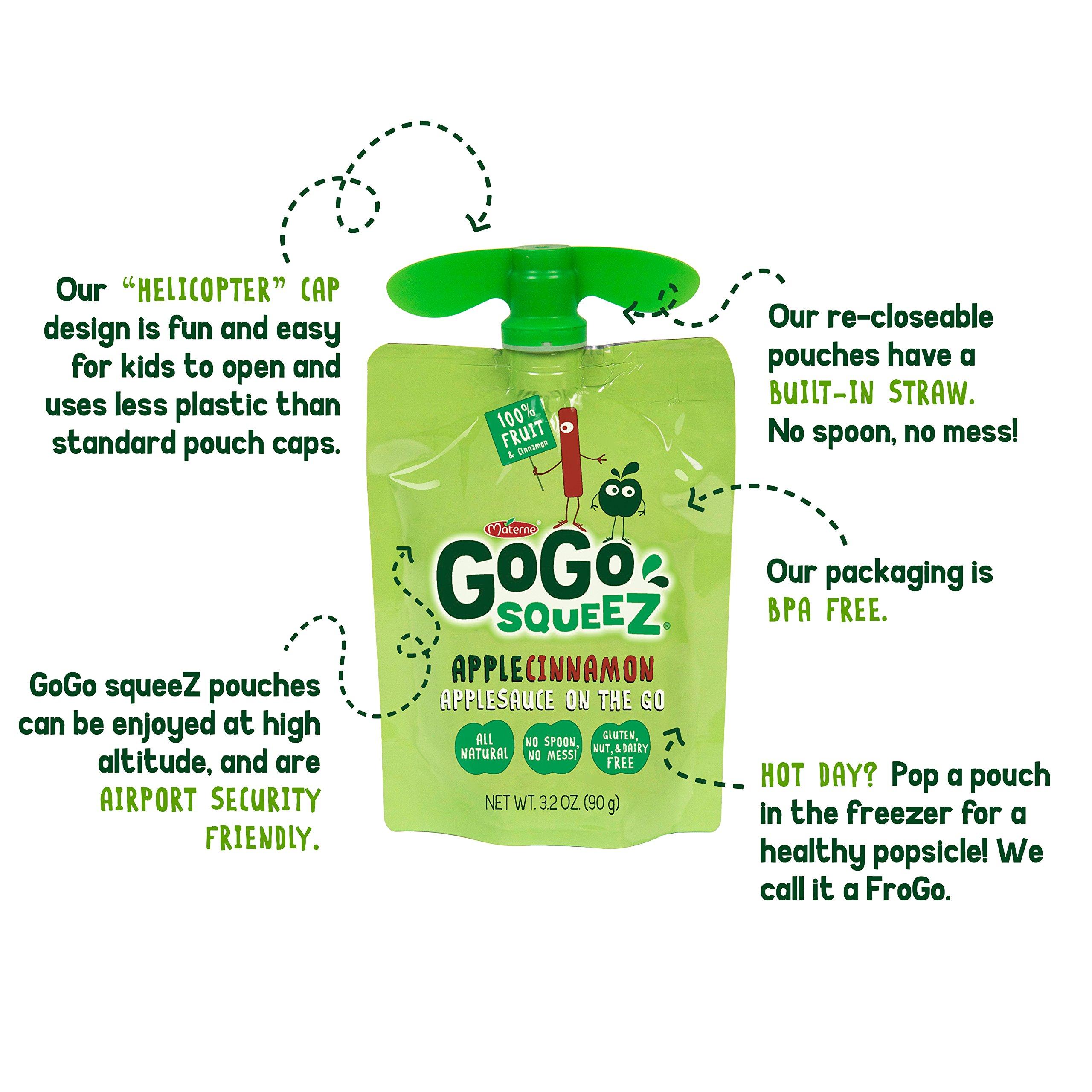 GoGo squeeZ Applesauce on the Go, Apple Mango, 3.2 Ounce Portable BPA-Free Pouches, Gluten-Free, 12 Total Pouches