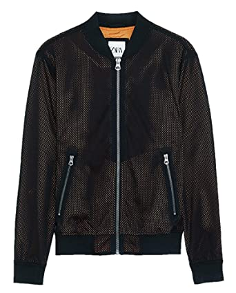 save off run shoes latest fashion Zara Homme Mesh Bomber Jacket 3918/403: Amazon.fr: Vêtements ...