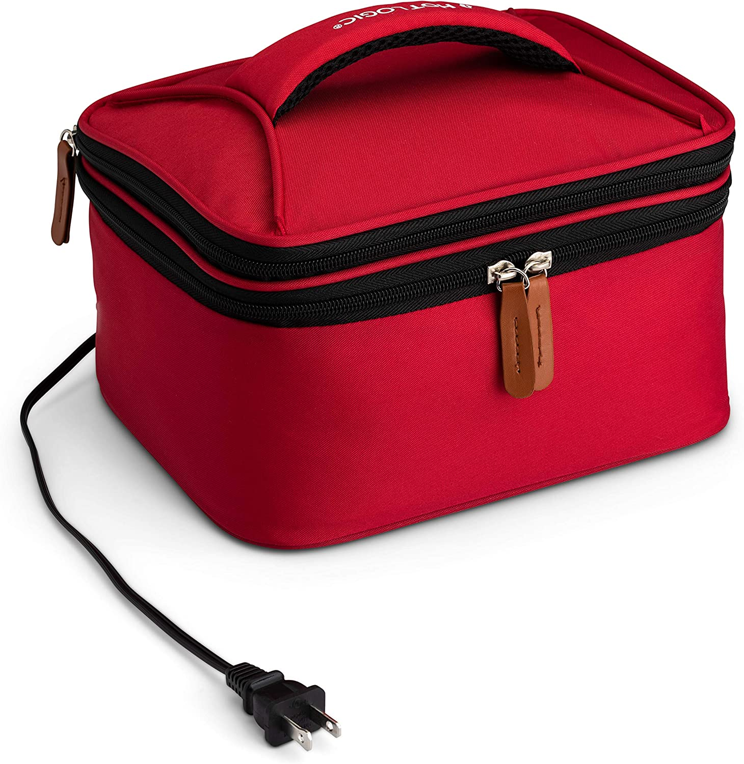 HotLogic 16801169-RD Food Warming Tote Lunch Bag Plus 120V, Red
