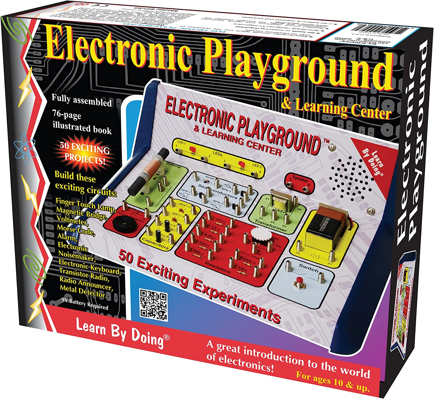 Elenco Electronic Playground Toys Games Snap Circuits Lights Electric Circuit Science Kit By