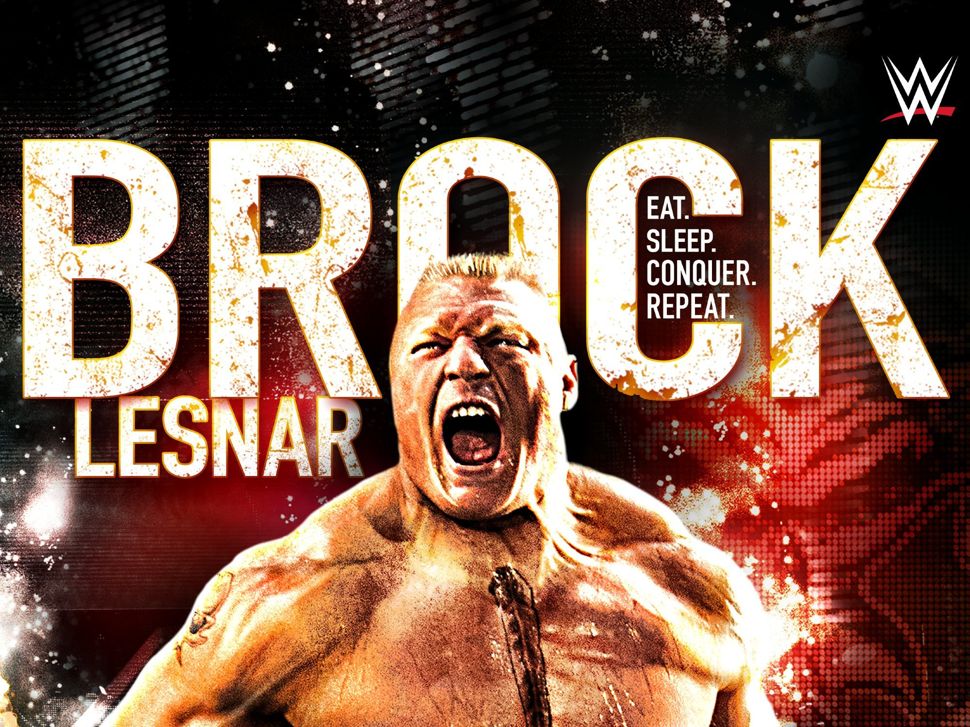 Amazon WWE Brock Lesnar Eat Sleep Conquer Repeat Sean Casey Rob Van Dam Kurt Angle Undertaker Triple H CM Punk John Cena
