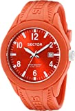 Sector Men's Quartz Watch with Red Dial Analogue Display and Red Silicone Strap R3251576004