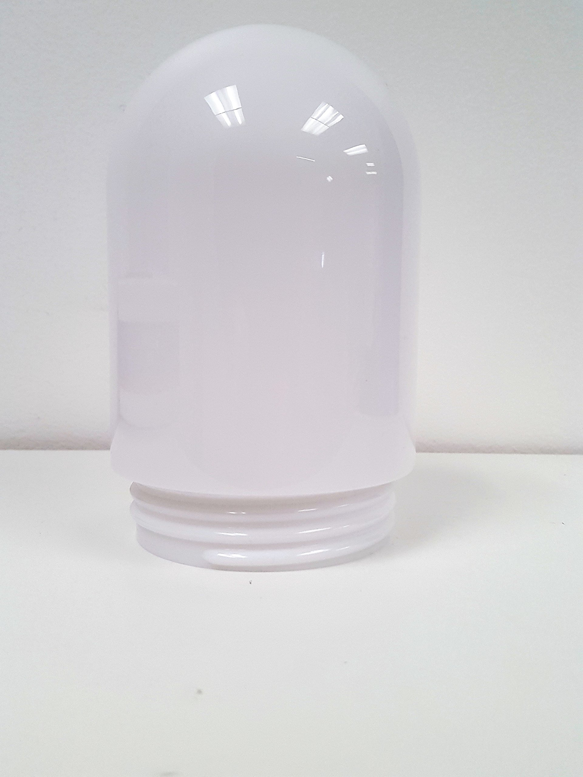 5'' Smooth White Polycarbonate Jar (Jelly Jar) With 3'' Threaded Neck