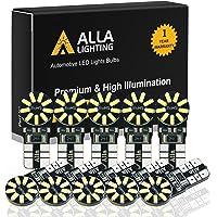 Alla Lighting CANBUS 194 LED Bulb Super Bright 168 2825 194 W5W Bulb 6000K White High Power 3014 SMD 12V W5W T10 LED 194…