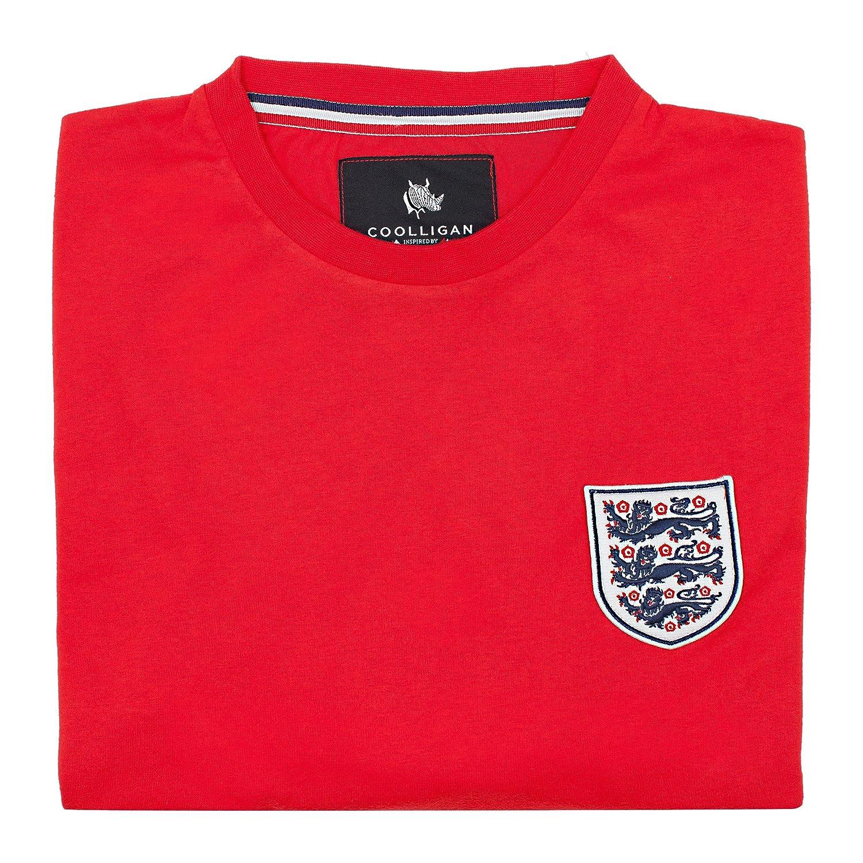 Coolligan - Camiseta de Fútbol Retro 1966 Bobby Charlton - Color - Rojo - Talla - XXL: Amazon.es: Ropa y accesorios