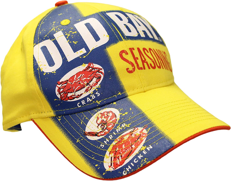 Old Bay Seafood Seasoning Label Men's Baseball Cap Hat (one Size, Adjustable)