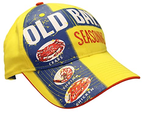 8f6585e0894 Image Unavailable. Image not available for. Color  Old Bay Seafood Seasoning  Label Men s Baseball Cap Hat ...