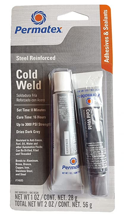 Amazon.com: Permatex 14600 1 Oz Cold Weld Bonding Compound 2 Count: Automotive