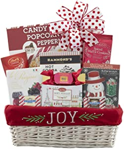 Wine Country Gift Baskets Christmas Joy To The World Holiday Chocolate and Treats