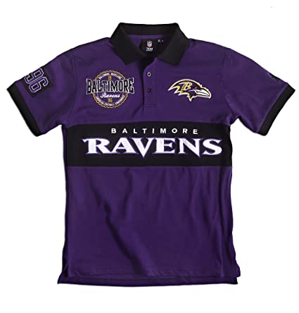 aa732a4678b Baltimore Ravens Cotton/Poly Wordmark Rugby Short Sleeve Polo Shirt Medium