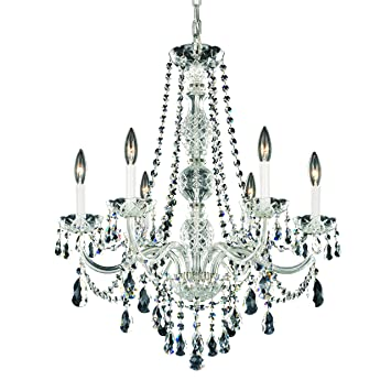 schonbek 130340h swarovski lighting arlington chandelier silver - Schonbek Lighting