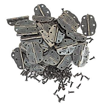 Amazon.com: PGMJ 40 piezas de 6 agujeros bisagras pequeñas ...