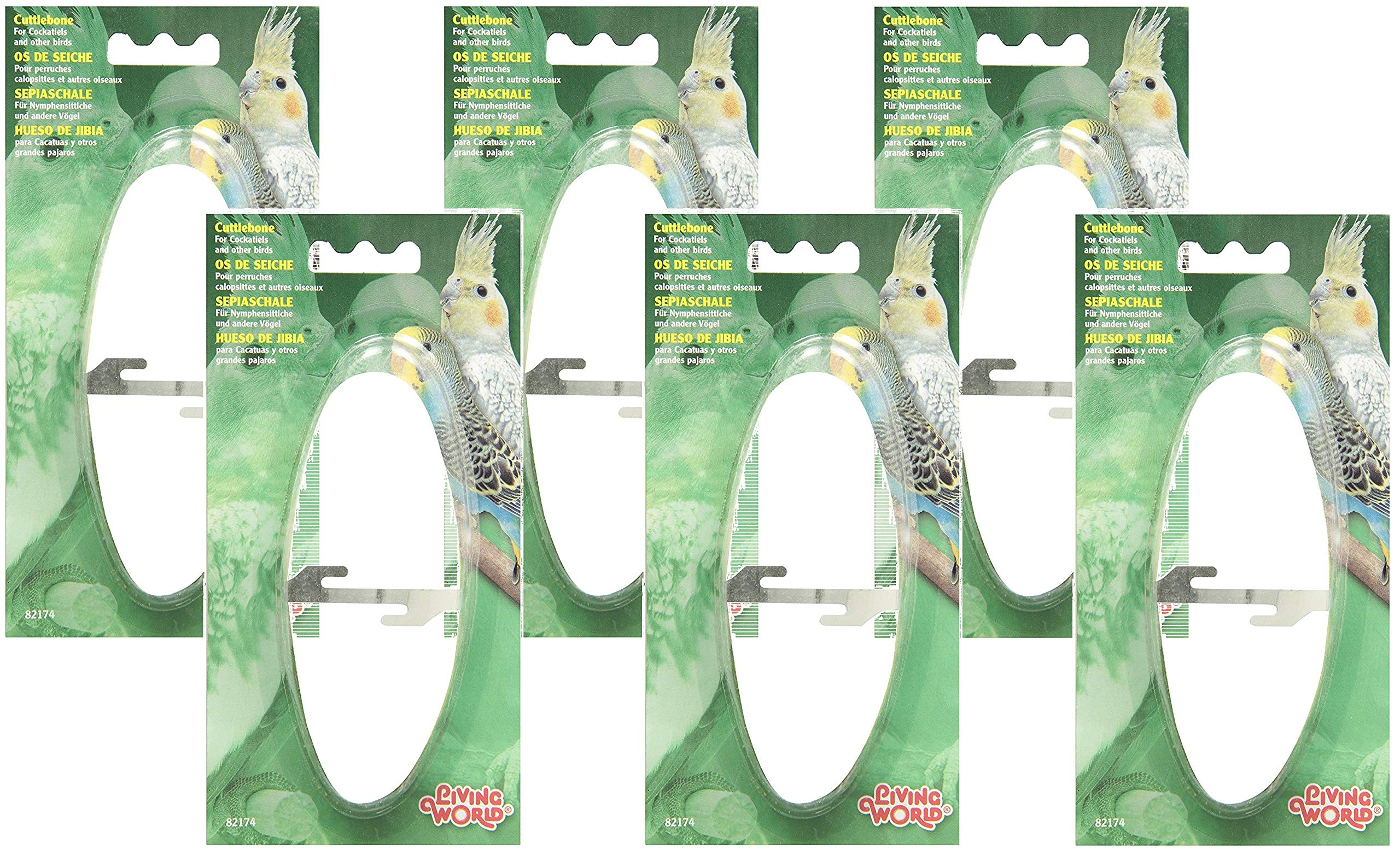 Living World 6 Cuttlebones for Pet Birds, Medium by Living World