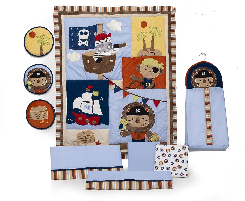 amazon com kids line 9 piece crib bedding set pirate party