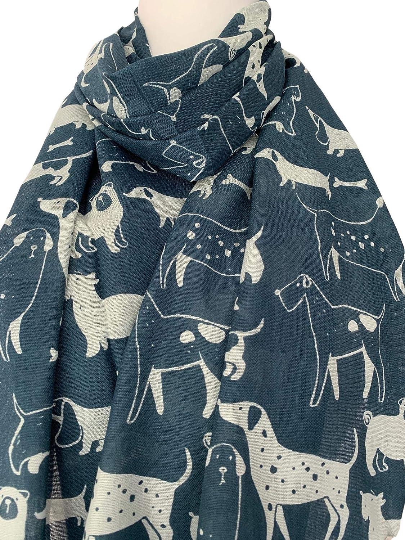 Purple Possum/® /Écharpe pour chien Bleu Westie Carlin Scottie Teckel Beagle Ch/âle en coton m/élang/é pour femme