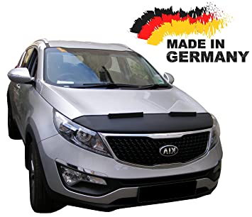 Amazon kia sportage 3 bonnet hood bra front end mask car bra kia sportage 3 bonnet hood bra front end mask car bra stoneguard protector tuning sciox Image collections