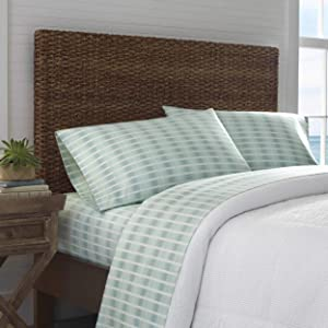 Tommy Bahama Off The Grid Pillowcase Pair, Standard, Green