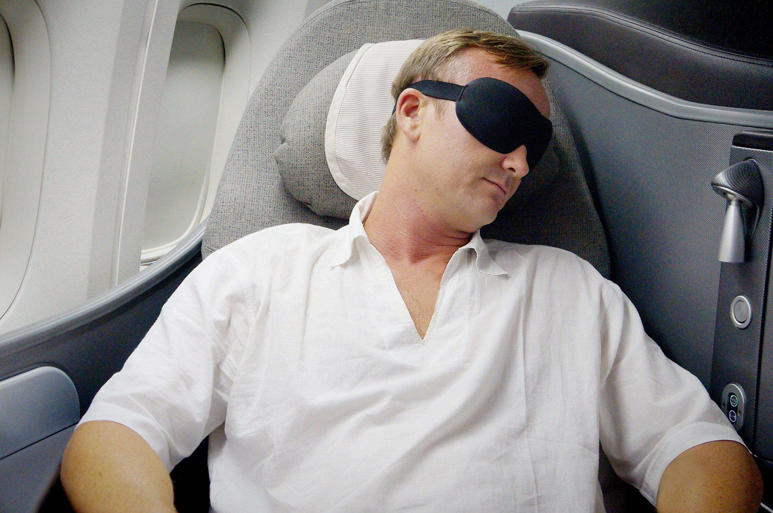 Luxury Patented Sleep Mask, Nidra Deep Rest Eye Mask with Contoured Shape and Adjustable Head Strap, Sleep Satisfaction Guaranteed, Sleep Anywhere, Anytime by Nidra (Image #6)