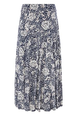 32cbb13c4ba Roman Originals Women s Floral Print Burnout Maxi Skirt - Ladies Summer  Beach Boho Bohemian 51%