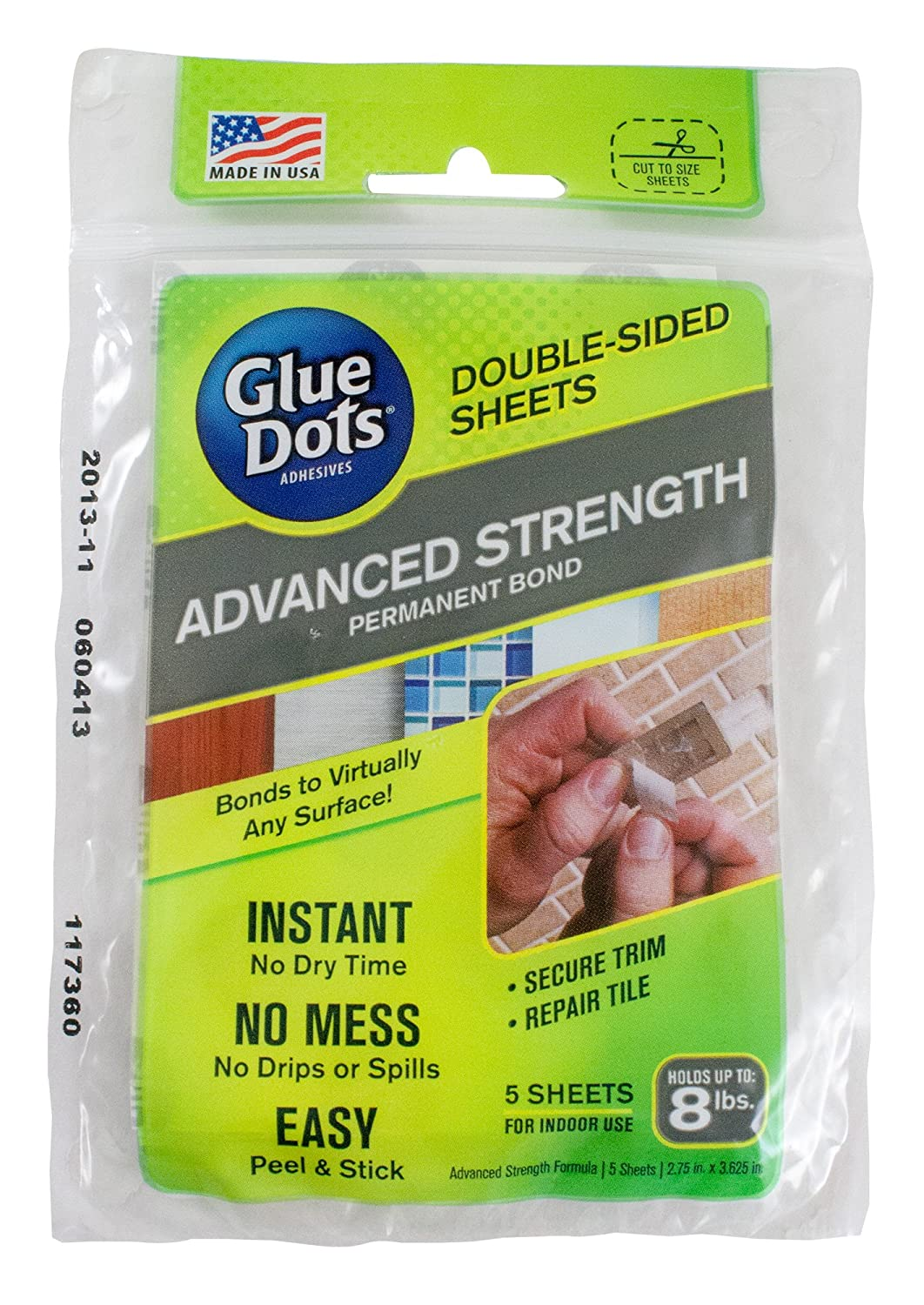 Amazon.com: Glue Dots Advanced Strength Adhesive Sheets, Double ...