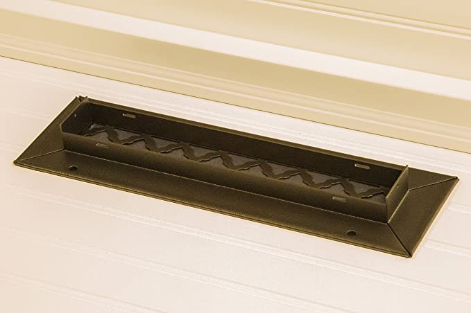 SteelCrest BTU10X4RWHH Bronze Series Designer Wall//Ceiling Vent Cover with mounting Screws White