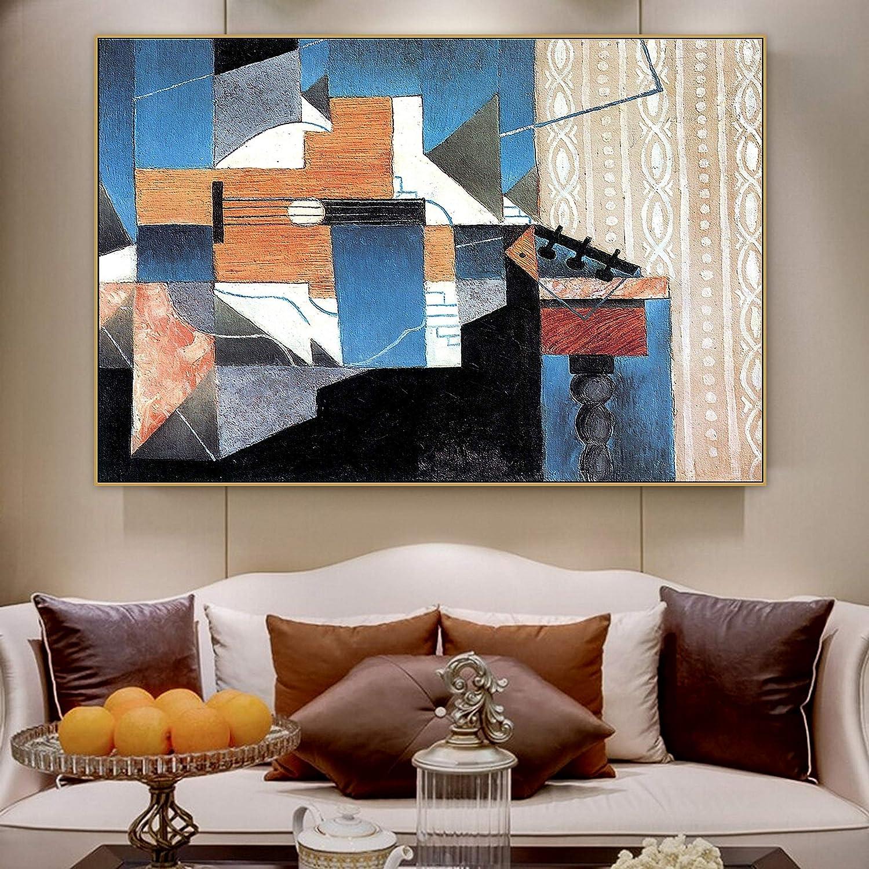 SIRIUSART Arte de Pared Juan Gris Famoso Artista español Guitarra sobre la Mesa Lienzo Pintura póster impresión para Sala de Estar decoración del hogar 40x60cm 16
