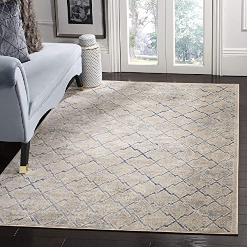 Safavieh Brentwood Collection BNT809G Area Rug, 10 x 13 , Light Grey Blue